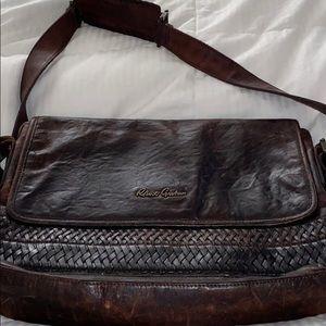 Robert Graham Leather Messenger Bag